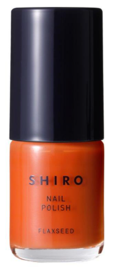 shiroのオレンジネイル|こっくりとした赤みオレンジが印象的な亜麻ネイル1