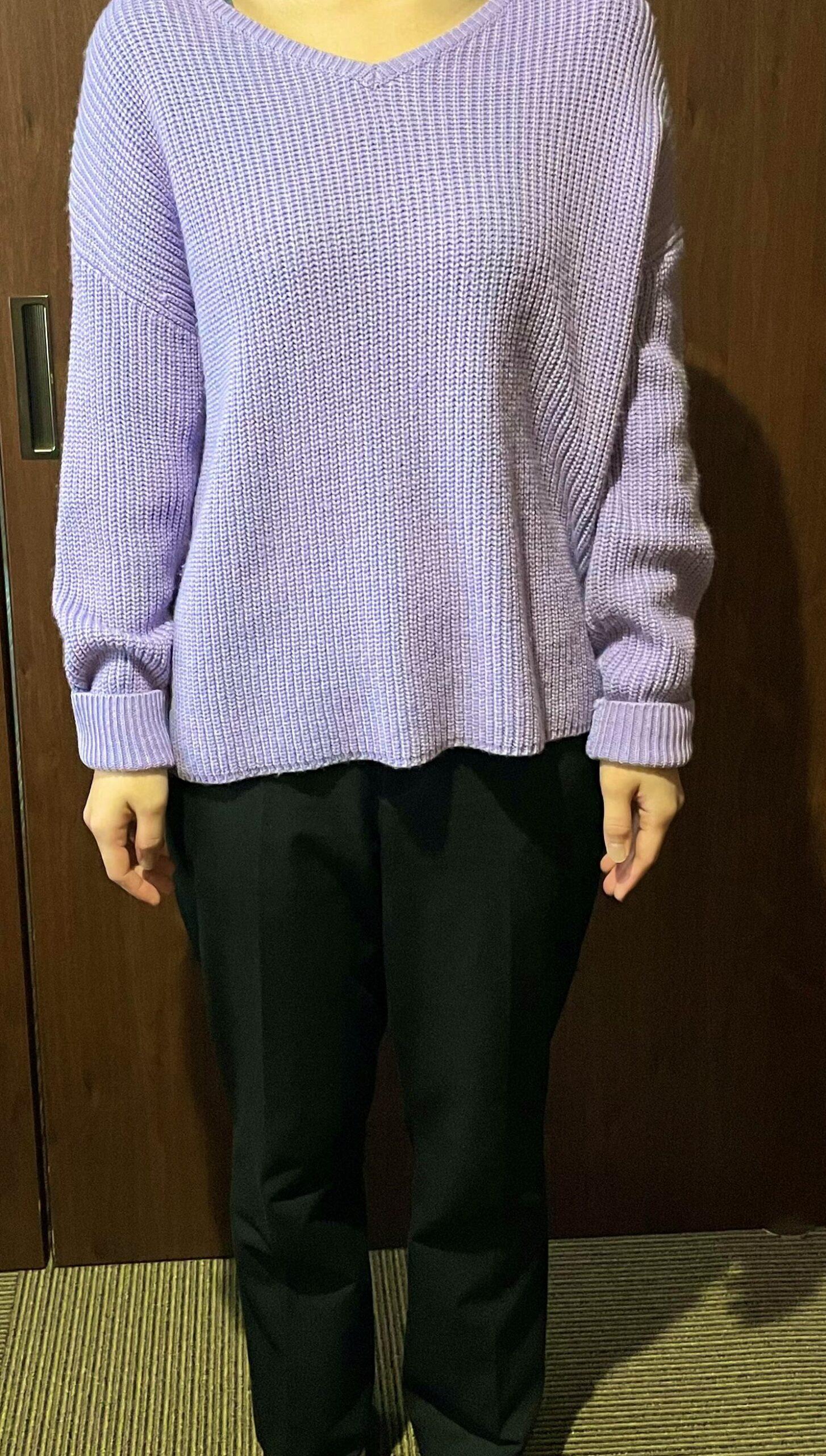 紫×黒パンツ