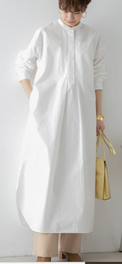 白シャツ④白シャツ風のワンピースも有り!