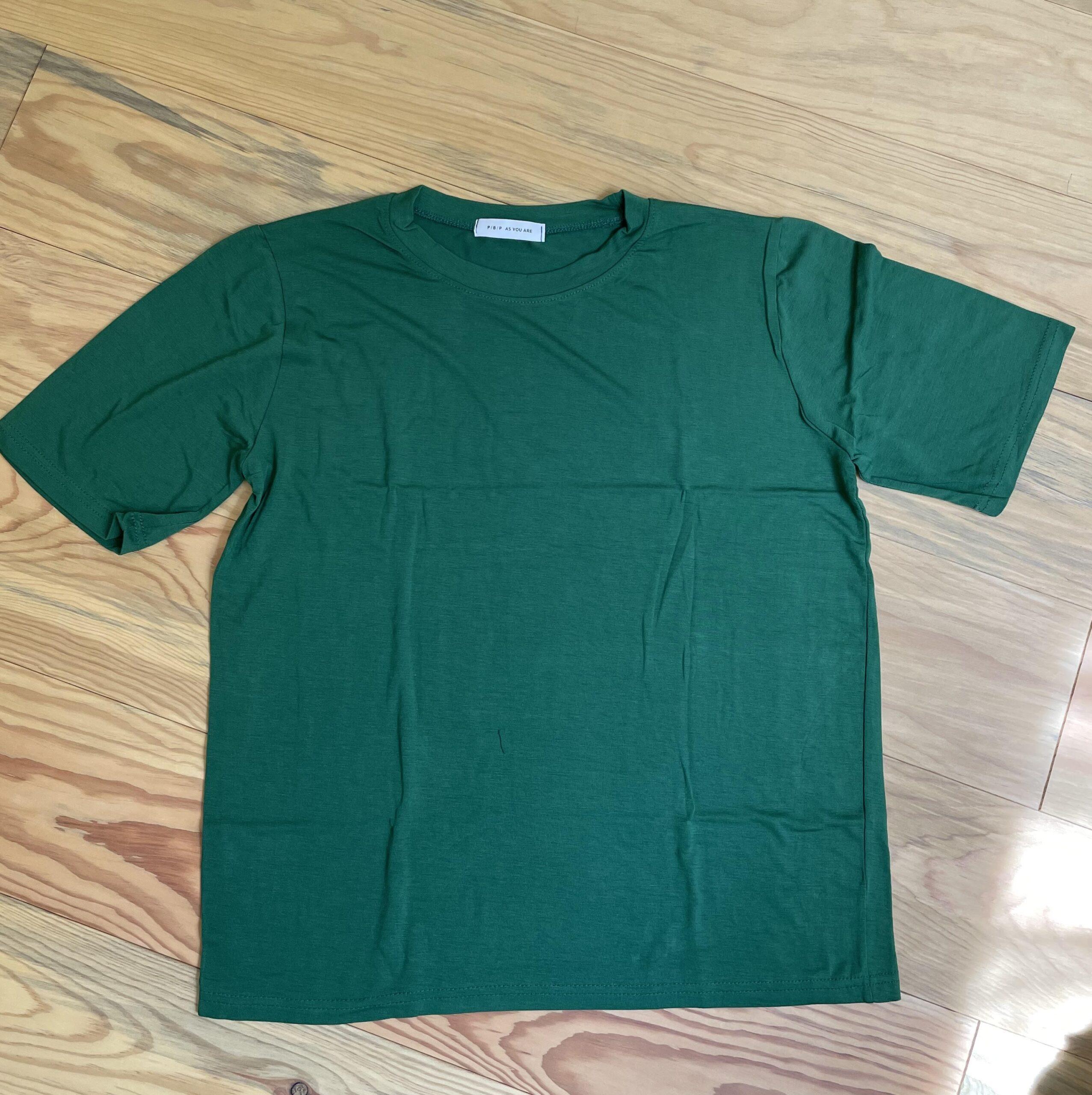 レーヨン混ソフト半袖Tシャツ