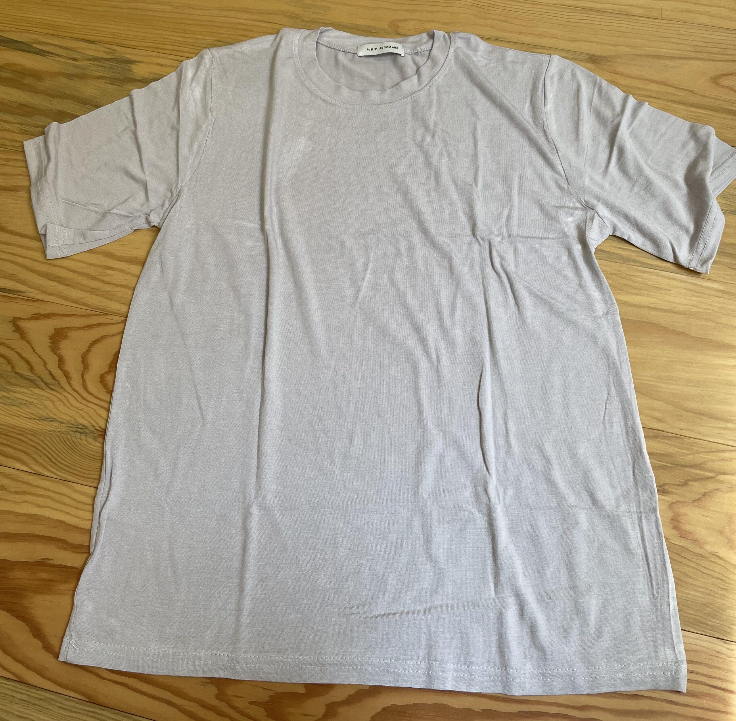 レーヨン混ソフト半袖Tシャツ4